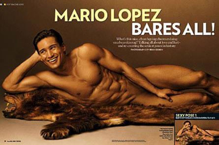 mario lopez shirt off